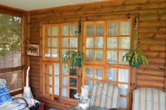 Wooden Cottage: Pine Windows